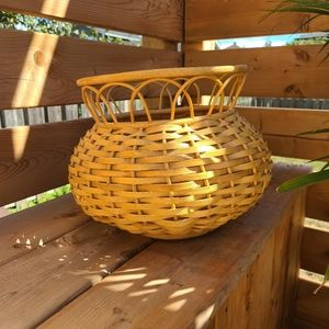 Vintage Rattan/Wicker planter
